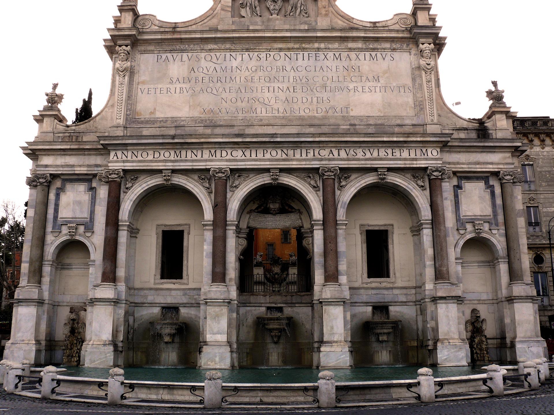 Rome - Fontaine de l'Acqua Paola sur la colline du Janicule