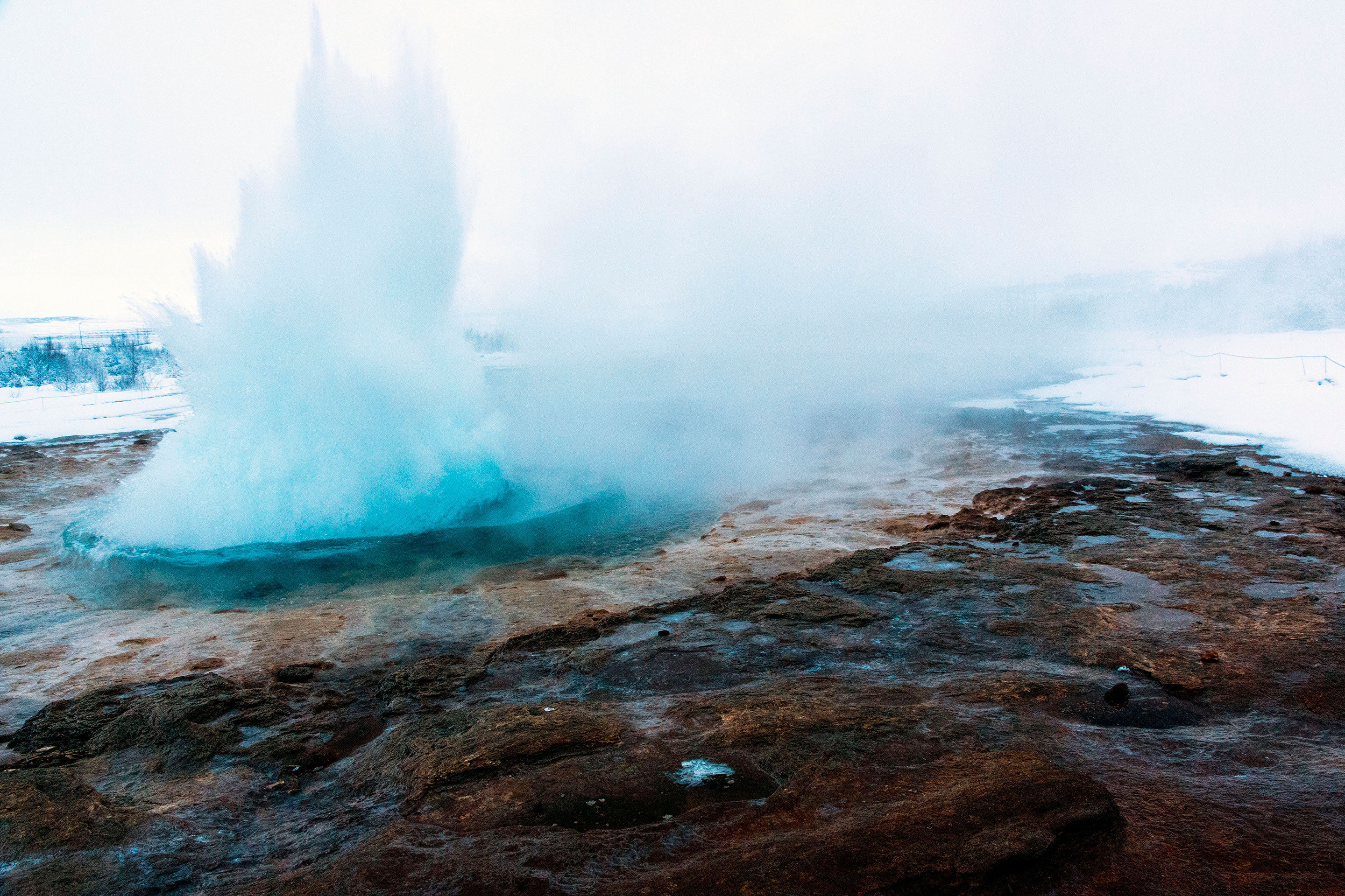 Islande - Geysir - Erruption