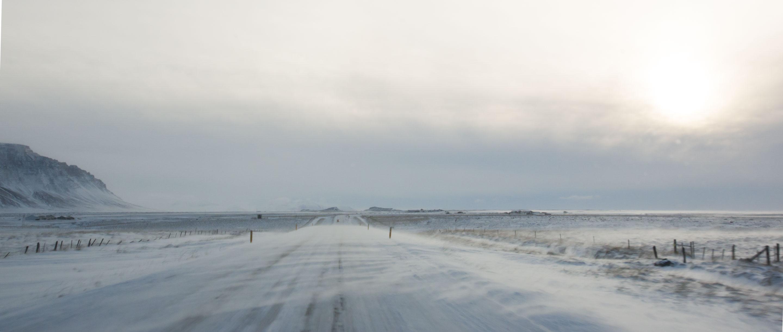 Islande - Péninsule de Snaefellsnes - Blizzard sur la route