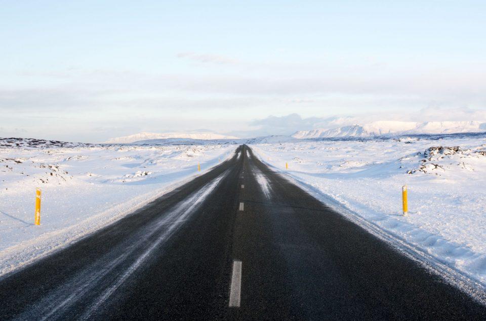 Notre itinéraire dans l'hiver islandais