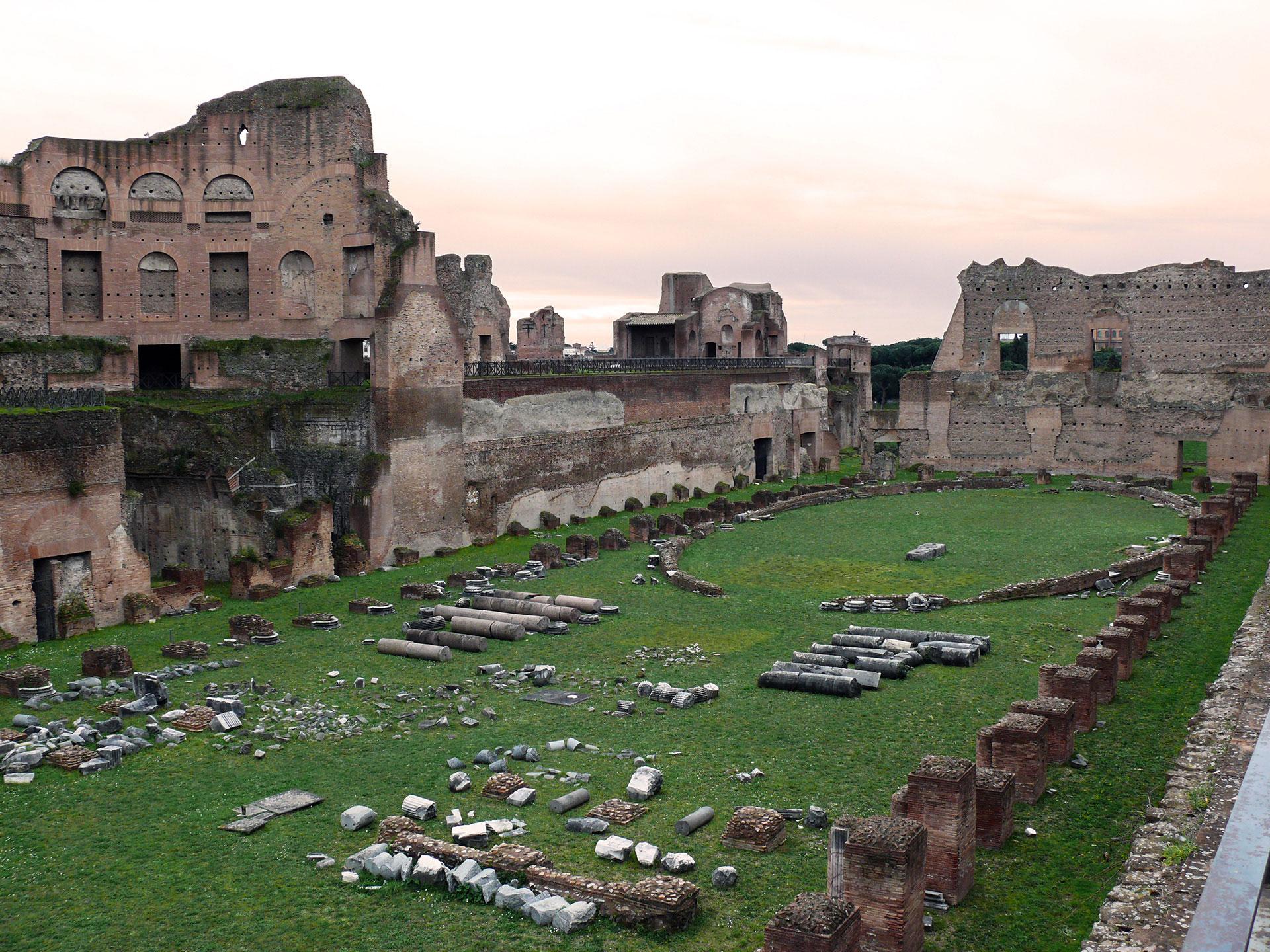 Rome - Stade de Domitien sur le mont Palatin